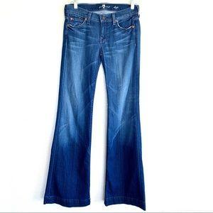 7 for all Mankind Dojo Wide Leg Flare Jeans 24